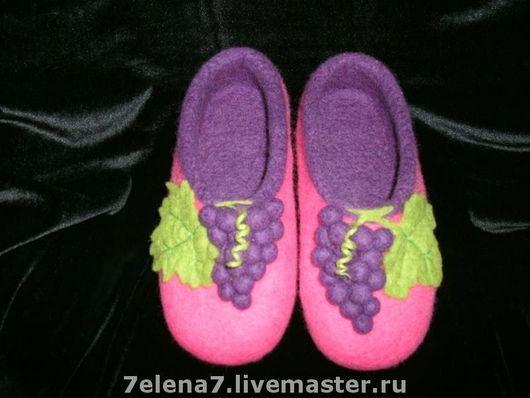 """Обувь ручной работы. Ярмарка Мастеров - ручная работа. Купить Тапочки """"Изабелла"""". Handmade. Домашние тапочки, оригинальный подарок, шерсть"""