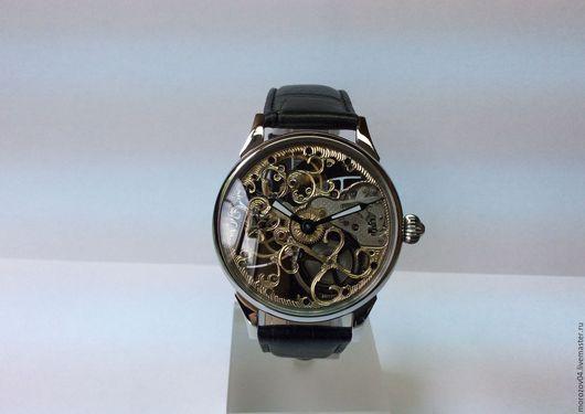 Часы ручной работы. Ярмарка Мастеров - ручная работа. Купить Вензеля. Часы ручной работы. С натуральными бриллиантами. Handmade.