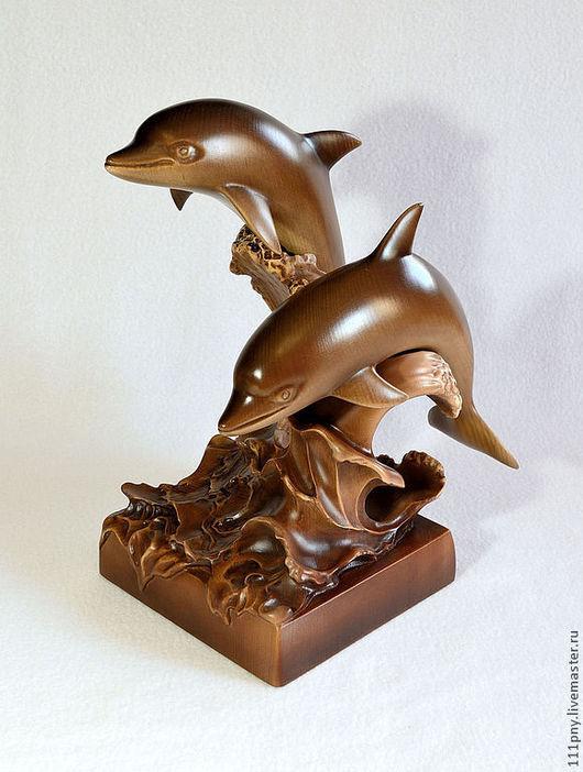 Статуэтки ручной работы. Ярмарка Мастеров - ручная работа. Купить Дельфины, или небольшая морская стихия на вашем столе. Handmade.
