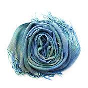 """Аксессуары ручной работы. Ярмарка Мастеров - ручная работа Шарф домотканый """"Северное сияние"""" Ткачество, домоткань.Лён, хлопок.. Handmade."""