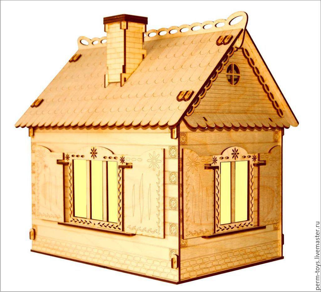 Кукольный домик с мебелью и освещением, Кукольные домики, Пермь,  Фото №1