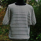 Одежда handmade. Livemaster - original item 100% linen Tunic with bat sleeve