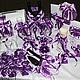 """Свадебные аксессуары ручной работы. Ярмарка Мастеров - ручная работа. Купить Коллекция аксессуаров """"Черничная"""". Handmade. Тёмно-фиолетовый, очаг"""