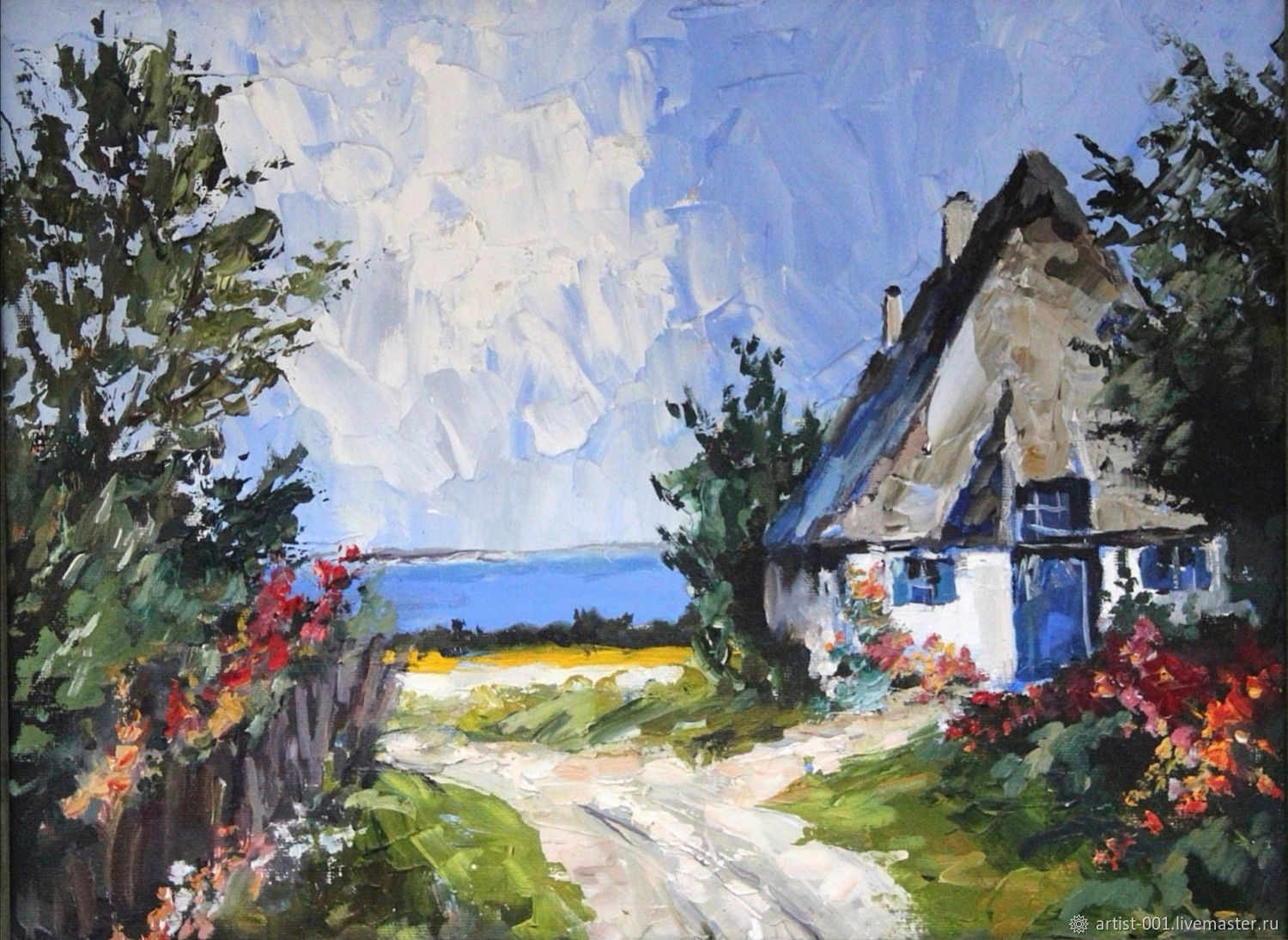 Painting ' Village motif', Pictures, Moscow,  Фото №1