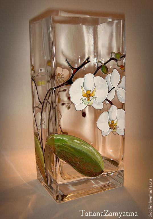 """Ваза """"Белые Орхидеи"""""""