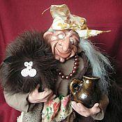 Куклы и игрушки ручной работы. Ярмарка Мастеров - ручная работа Ёжкин кот с хозяйкой. Handmade.