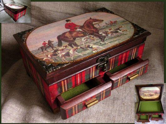 Подарочные наборы ручной работы. Ярмарка Мастеров - ручная работа. Купить Охотники. Handmade. Английский стиль, природа, шотландская клетка