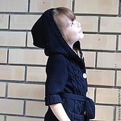 Работы для детей, ручной работы. Ярмарка Мастеров - ручная работа Кардиган детский вязаный темно-синий. Handmade.