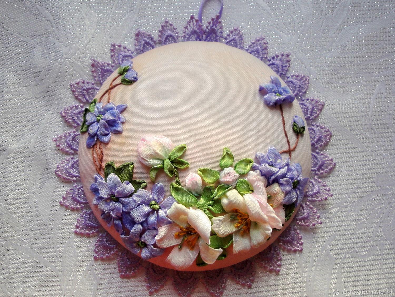 Вышивка лентами чайник фото