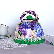 Посуда handmade. Livemaster - original item Kettle warmer Blooming lilac. Gift, kitchen interior, lilac. Handmade.