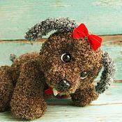 Stuffed Toys handmade. Livemaster - original item Soft toy Teddy Puppy chocolate bar. Handmade.