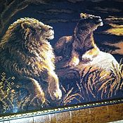 Картины ручной работы. Ярмарка Мастеров - ручная работа Львы в саванне. Handmade.