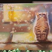 """Открытки ручной работы. Ярмарка Мастеров - ручная работа Авторская открытка """"Ты мое счастье"""". Handmade."""