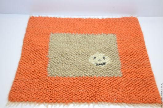 Текстиль, ковры ручной работы. Ярмарка Мастеров - ручная работа. Купить Коврик из овечьей шерсти KB017m. Handmade. ковер из овчины