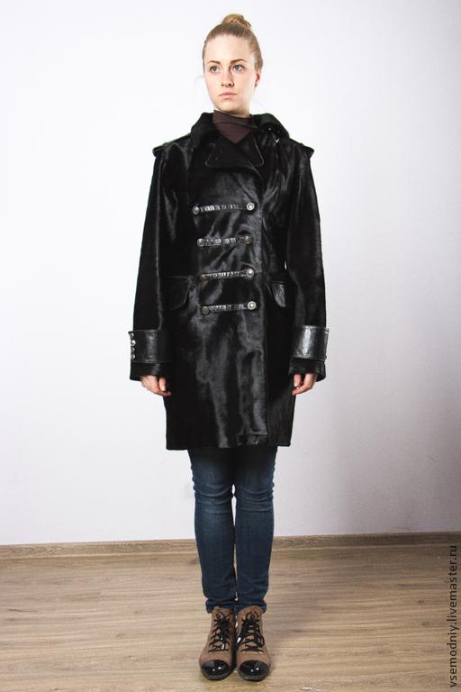 Верхняя одежда ручной работы. Ярмарка Мастеров - ручная работа. Купить Пальто из меха пони - 20% скидка. Handmade. Черный