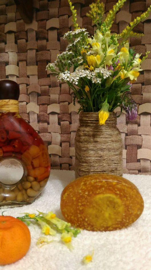 Мыло ручной работы. Ярмарка Мастеров - ручная работа. Купить Мыло с цедрой лимона. Handmade. Мыло-скраб