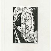"""Картины и панно ручной работы. Ярмарка Мастеров - ручная работа Графика тушью """"Колесо времени"""". Handmade."""