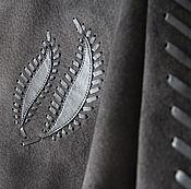Одежда handmade. Livemaster - original item Suede top graphite color. Handmade.