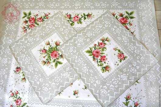 Текстиль, ковры ручной работы. Ярмарка Мастеров - ручная работа. Купить Подарочный набор Розочки. Handmade. Серый, кухня