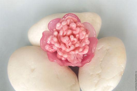 Броши ручной работы. Ярмарка Мастеров - ручная работа. Купить Брошь Розовый пион. Handmade. Бледно-розовый, брошь цветок