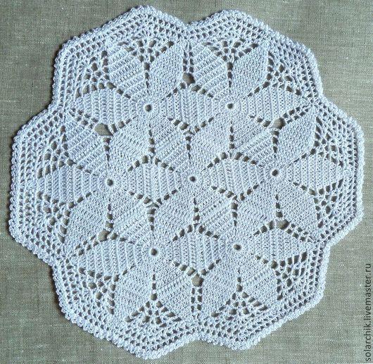 Текстиль, ковры ручной работы. Ярмарка Мастеров - ручная работа. Купить Ажурная салфетка. Handmade. Белый, ажур