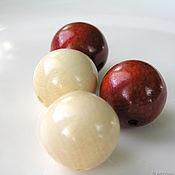 Материалы для творчества handmade. Livemaster - original item Beads of wood. Handmade.