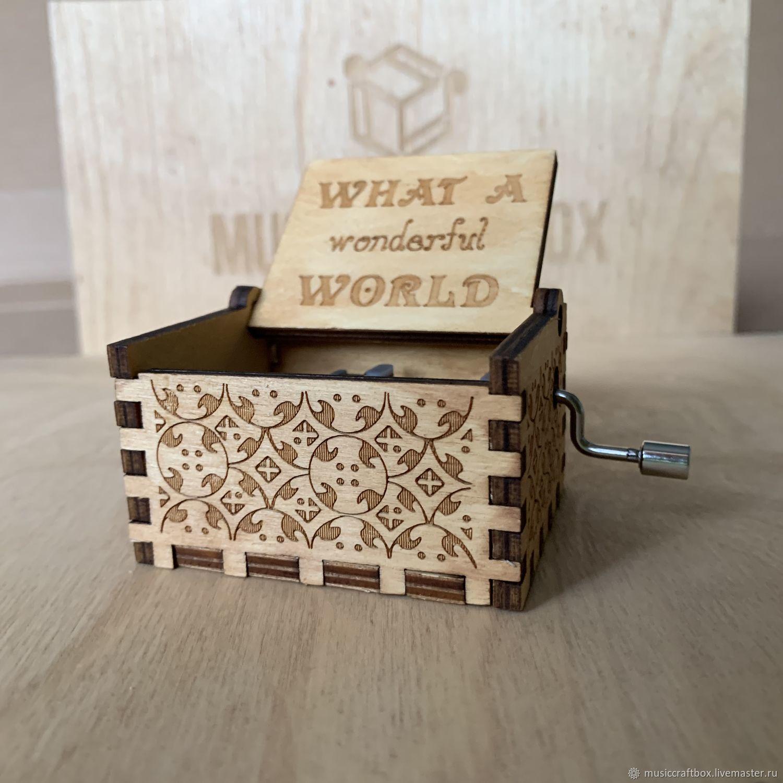 Music box-hurdy-gurdy What a Wonderful World, Other instruments, Krasnodar,  Фото №1