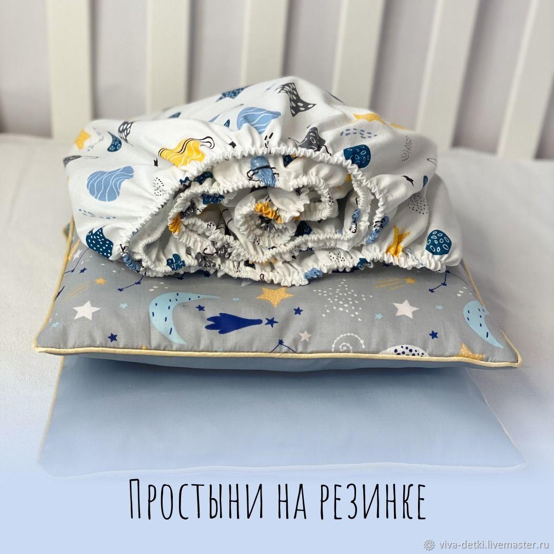 Простыни на резинке для детской кроватки, Детское постельное белье, Москва,  Фото №1
