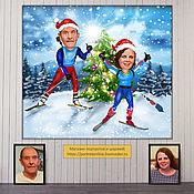 Сувениры и подарки handmade. Livemaster - original item Gift to parents for new year. Christmas cartoon on the photo to order. Handmade.
