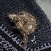 """Аксессуары ручной работы. Ярмарка Мастеров - ручная работа зимние брошки. """"пёс"""". Handmade."""