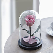 Цветы ручной работы. Ярмарка Мастеров - ручная работа Роза в колбе Mini розовая. Handmade.