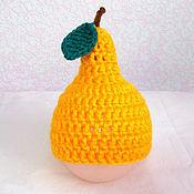 Работы для детей, ручной работы. Ярмарка Мастеров - ручная работа шапочка для фотосессии новорожденных груша желтый фотосессия. Handmade.