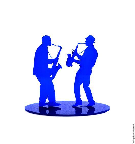 Статуэтки ручной работы. Ярмарка Мастеров - ручная работа. Купить Джаз. Handmade. Синий, джаз, подарок музыканту
