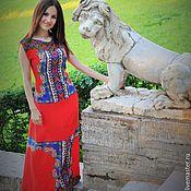 Одежда ручной работы. Ярмарка Мастеров - ручная работа Красное платье Этно. Handmade.