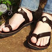 """Обувь ручной работы. Ярмарка Мастеров - ручная работа Кожаные сандалии """"Classic Asia"""". Handmade."""