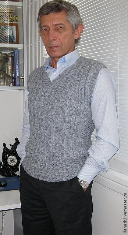 """Для мужчин, ручной работы. Ярмарка Мастеров - ручная работа. Купить Мужской жилет """" Для него..."""". Handmade. Серый"""