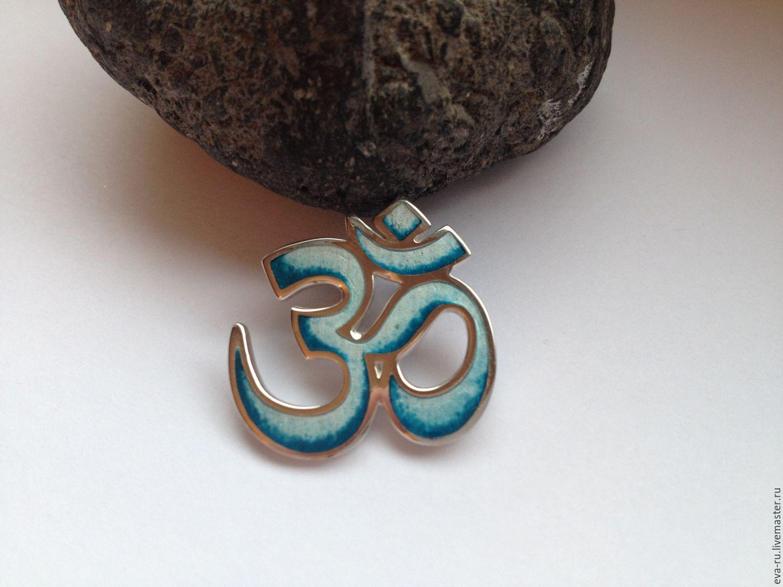 Silver om pendant with enamel shop online on livemaster with pendants handmade livemaster handmade buy silver om pendant with enamel aloadofball Images
