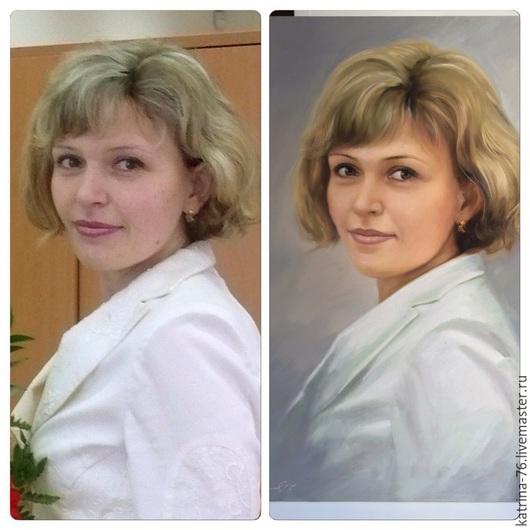 Портрет по фото Холст, масло. Художник Осипов Артур