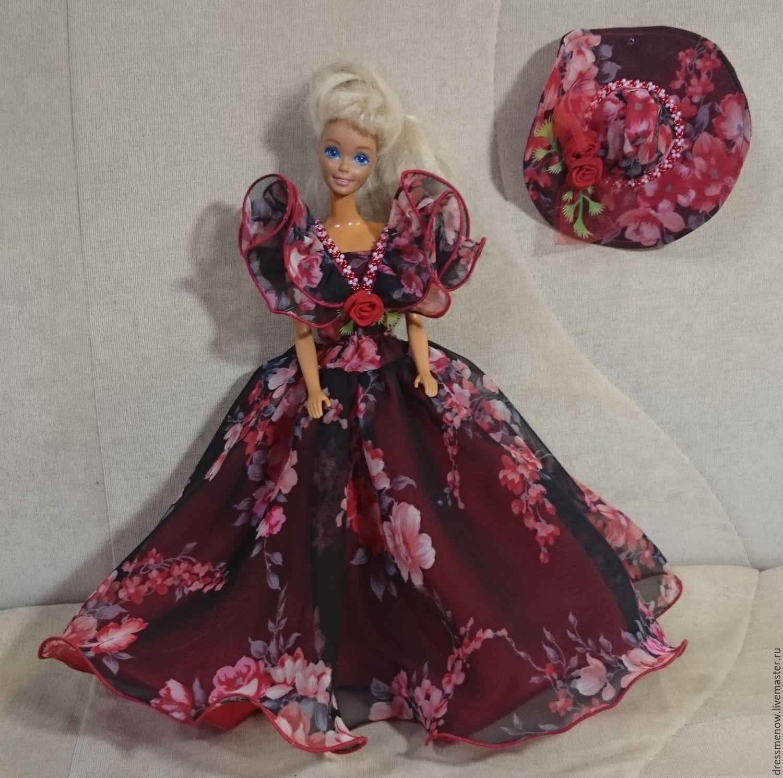 Как сделать для кукол платье из ткани