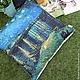 Текстиль, ковры ручной работы. Ярмарка Мастеров - ручная работа. Купить Декоративная подушка Ночь над Роной ван Гог. Handmade.