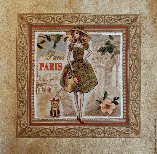 Шитье ручной работы. Ярмарка Мастеров - ручная работа. Купить Багет Париж: гобеленовая заготовка без оверлока, 50-50 см. Handmade.