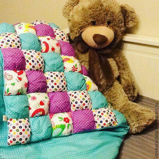 Детская ручной работы. Ярмарка Мастеров - ручная работа. Купить Одеяло-бомбон. Handmade. Комбинированный, одеяло в кроватку, покрывало детское