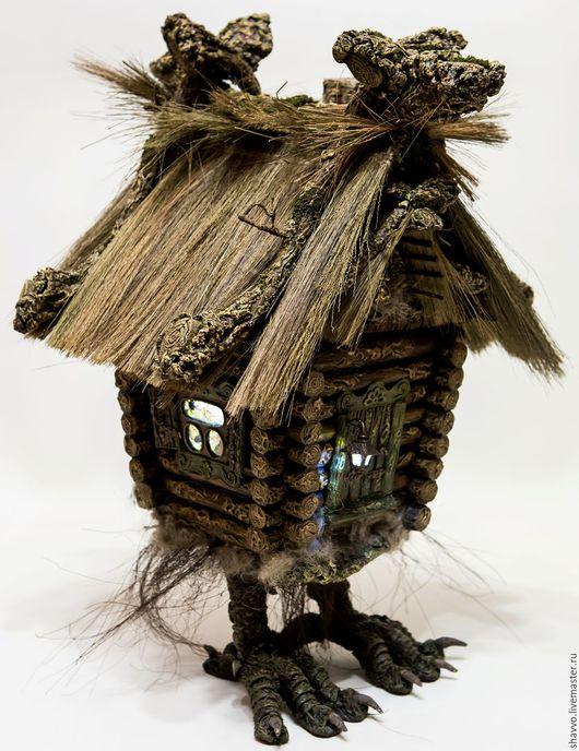 Кукольный дом ручной работы. Ярмарка Мастеров - ручная работа. Купить Избушка на курьих ножках. Handmade. Комбинированный, ночник