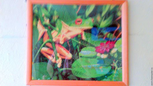 """Животные ручной работы. Ярмарка Мастеров - ручная работа. Купить картина """"Лягушка"""". Handmade. Комбинированный, для любого возраста, для дома и интерьера"""