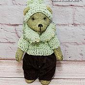 Куклы и игрушки handmade. Livemaster - original item Green Teddy bear Chrysolite from the collection of the Natural stones. Handmade.