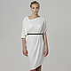 Dress white, knitted, warm MustHave Angora wool knee-length, loose dress, comfortable, pregnant, everyday, beautiful, elegant