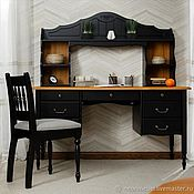 Столы ручной работы. Ярмарка Мастеров - ручная работа Столы: Письменный стол с надстройкой. Handmade.