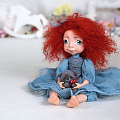 Куклы и игрушки ручной работы. Ярмарка Мастеров - ручная работа Подвижная Кукла (Болтушка) Нелли. Handmade.