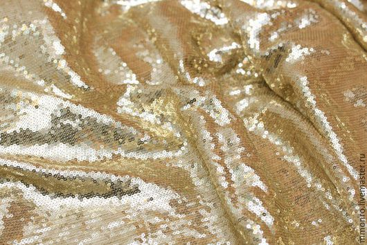 Шитье ручной работы. Ярмарка Мастеров - ручная работа. Купить Ткань 100% шелк с пайетками. Handmade. Ткань, ткань для платья