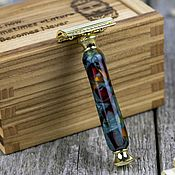 Сувениры и подарки handmade. Livemaster - original item Shaving machine in a wooden case with a name inscription. Handmade.